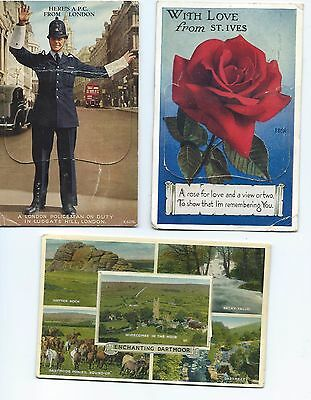 Lot 3 Cartes A Systeme - London - Saint Ives - Dartmoor - Angleterre