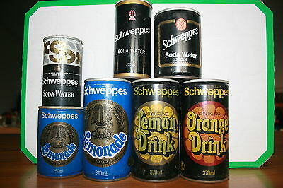 Schweppes Cans, Full Collection Lot #6,  Steel Cans
