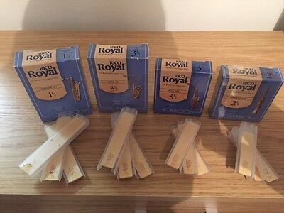 RICO ROYAL Saxophone reeds - All types - All strengths - bundle of 3