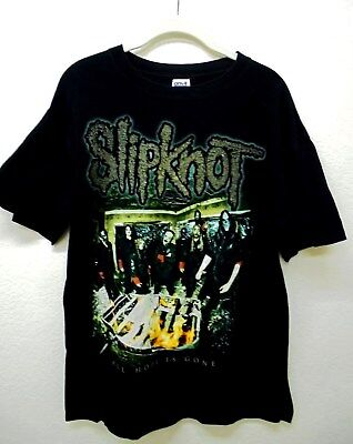 Slipnot 2008 All Hope is Gone Tour Black Concert T Shirt Size L 2 Sided