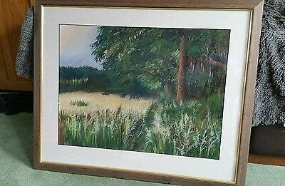 "Original Pastel Drawing of Stansted Park by Chris Gilbert 18""x24"""