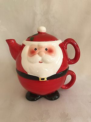 Santa Tea For One Teapot And Cup