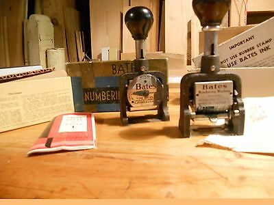 Vintage Bates Numbering Machine Lot of Two