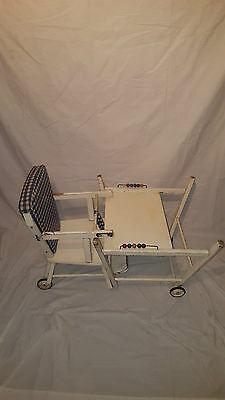 Vintage Antique Baby High Chair  Abacus Stroller Shabby Chic Dolls Desk Seat