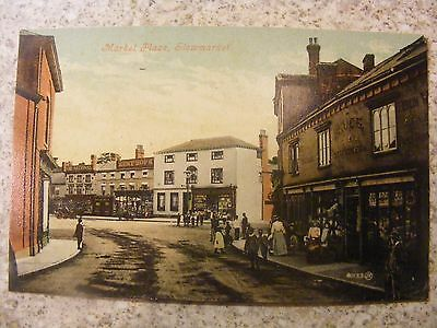 Colour Postcard Of The Market Place, Stowmarket, Suffolk.
