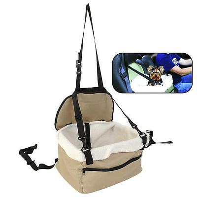 Pet Car Carrier Bed with Safety Belt for Dog/Cat Puppy/Travel Bag Booster Seat J