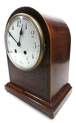 Rare French Inlaid Dome Top Mantel Clock - French 8 Day Striking Bracket Clock