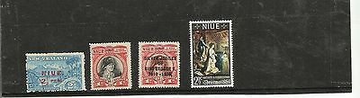 New Zealand - Niue 3 early mounted mint and 1 modern stamp unmounted mint