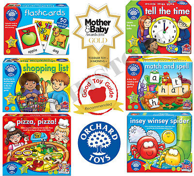 Orchard Toys Play and Learn Educational Board Games Flash Cards Childrens Games
