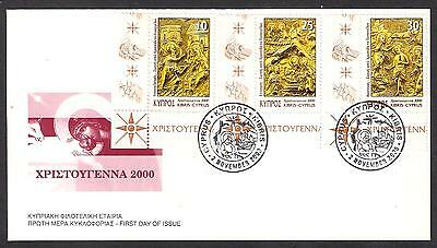 Cyprus 2000 Christianity Christmas Annunciation, Baptism, Corner Unofficial Fdc