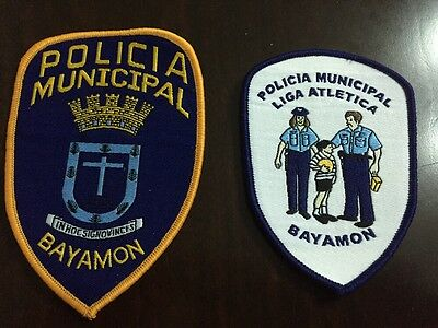 Puerto Rico Police Patch...municipal Police Bayamon Two Different