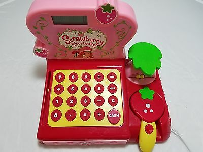 Strawberry Shortcake Berry Sweet Cash Register Sounds Groceries Pretend Pink Toy