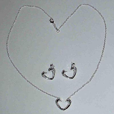 BEAUTIFUL 925-SILVER SET - Necklace and Earrings
