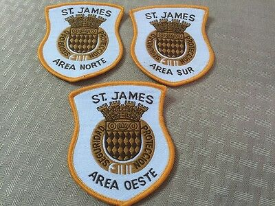 Puerto Rico Police Patch...protection And Security St.james