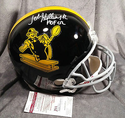JOHN STALLWORTH signed PITTSBURGH STEELERS full size helmet JSA WITNESS coa fs w