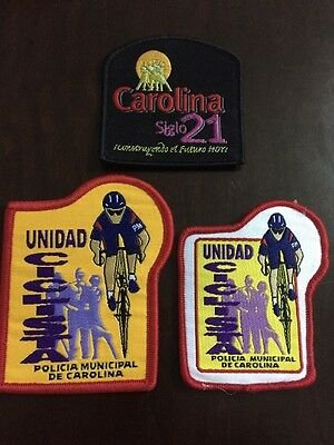 Puerto Rico Police Patch...cycling Unit Carolina Three Different