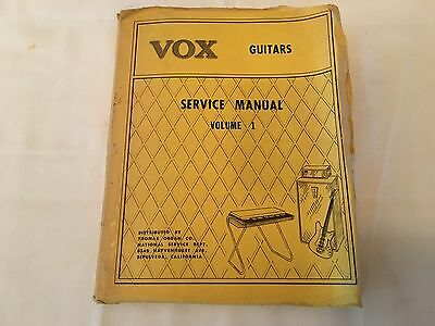 Vintage 1967 Vox Guitars Service Manual Volume I