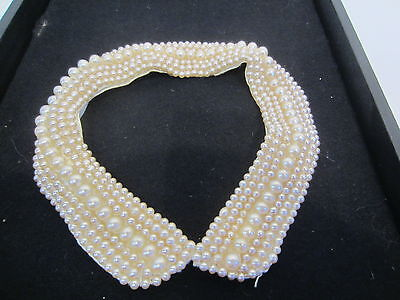 VINTAGE pearl beaded collar necklace