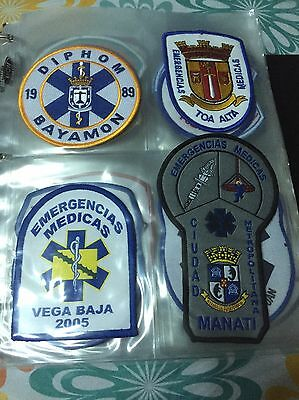 Excelent Colection  Of 120 Police Patches ...all Are From Puerto Rico