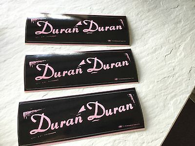 """Duran Duran """"thank you"""".  3 promo stickers. 1999 Capitol records"""