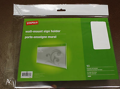 """4 lot Wall mount 11"""" x 8.5"""" Horizontal OFFICE sign PHOTO holder display frame"""