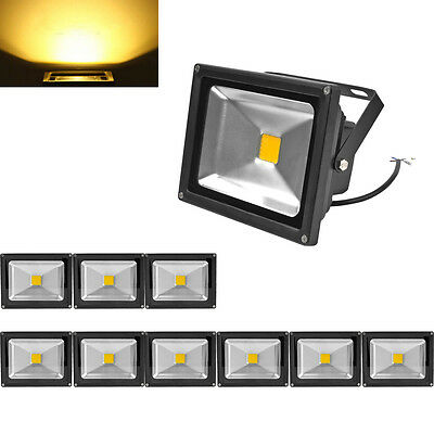 10X 20W LED Floodlight Warm White Outdoor Garden Lamps LED Floodlight IP65