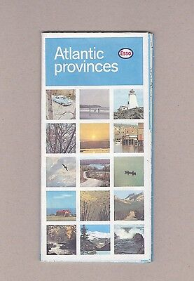 1965 Esso Atlantic Provinces Vintage Road Map. Very Good Condition