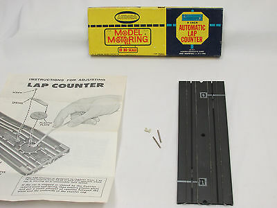 """Aurora Model Motoring 9"""" Automatic Lap Counter, Mint/nm In Box W/hardware!!"""
