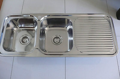 Everhard Double Bowl Stainless Steel Kitchen Sink - New Ex Display