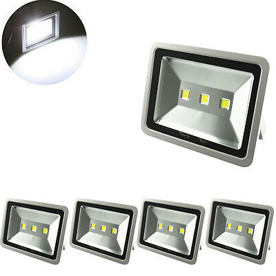 5X 150W LED Floodlight  Security Garden Lamp IP65 Cool White Outdoor LED Lamp