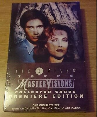 X Files TOPPS Mastervisions Premier Edition Collector Cards New and Sealed