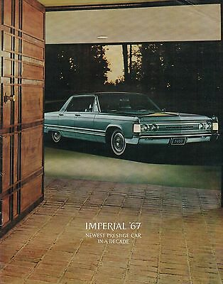 1967 CHRYSLER IMPERIAL Brochure/Catalog w/Color Chart: LeBARON,CROWN,Convertible