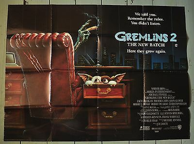 "Gremlins 2 - Original UK Quad Film Poster 30"" x 40"" - 1990"