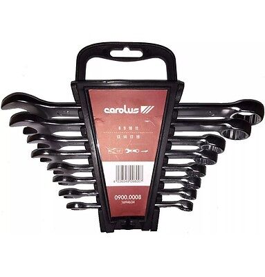 Carolus By Gedore 0900.0008 8pc Combination Spanner Wrench Set 8-19mm Snap On