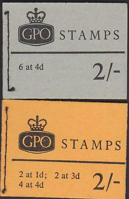 2 Gb Stamp Booklets Mint. Both 2/- With Different Stamps In. Christmas Present?
