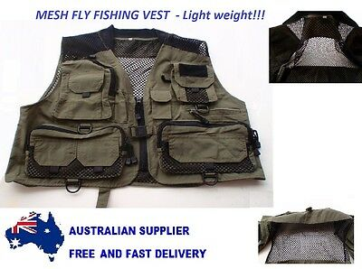 Fly Fishing Vest - Light weight 300 grams Fly Fishing Mesh Vest