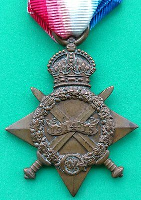 Ww1 British 1914 - 15 Star Medal 173 Tunnelling Company Tunnellers Wounded
