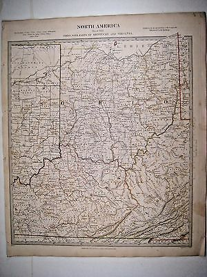 1833 SDUK: Map of Ohio with parts of Kentucky, Virginia
