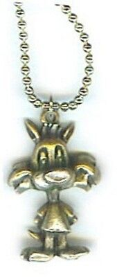 """Looney Tunes Sylvester Cat 18"""" Neck in Solid Pewter, Great Gift, Made in USA NEW"""