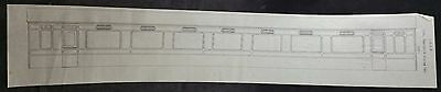 Modellers Drawing of LMS 57ft Vestibule Dining Car 62.5 x 11.5cm on Transparency