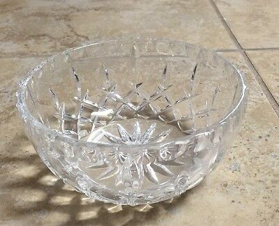 Small Crystal Clear Glass Candy Nut Bowl Dish