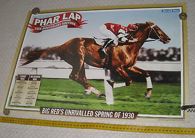 Melbourne Cup poster PHAR LAP poster 75th Anniversary 2007 MELBOURNE cup BIG red
