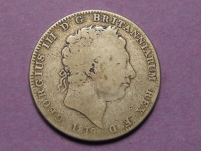 Silver Coin , George Iii Crown 1819 / Milled