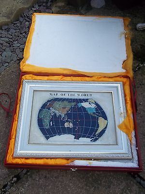 attic barn find rare Map of the World with gemstones from around the world derby