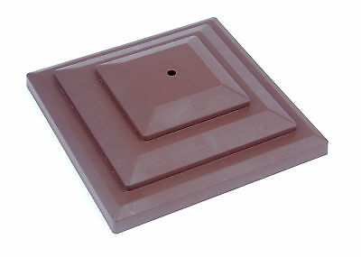 "Linic 3 x Brown 4"" 100mm Plastic Fence Post Cap Top Finial UK Made GT0048"