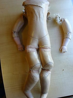 Antique doll BODY TLC- Leather  For parts