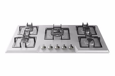 "Empava 34"" Stainless Steel Built-in 5 Italy Sabaf Burners Gas Stove Gas Cooktop"