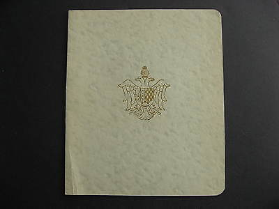 YUGOSLAVIA offices abroad Sc 1K5-10 in souvenir book, stamps stuck,cover creased