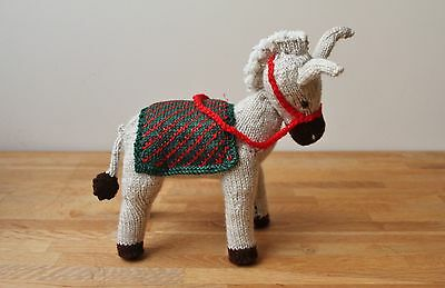 Hand Knitted Quality Christmas Nativity Donkey and Individually Designed Blanket