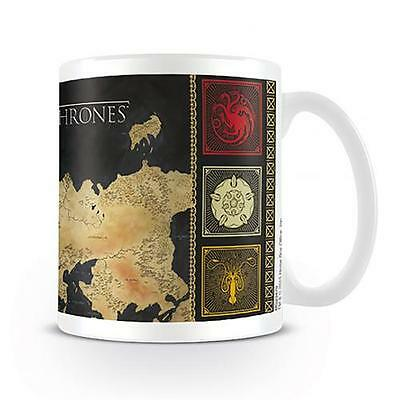 Game Of Thrones Mug Cup Coffee Tea GOT Map Gift New Official Licensed Product